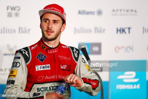In this handout from FIA Formula E Daniel Abt Audi Sport ABT Schaeffler Audi etron FE04 during the Hong Kong ePrix Round 2 of the 2017/18 FIA Formula...