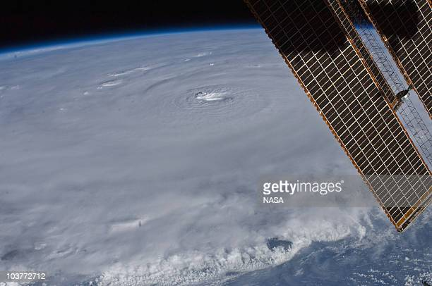 In this handout from NASA Hurricane Earl seen from the International Space Station August 30 2010 as it moves over the in the Atlantic Ocean...