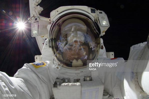 In this handout from NASA Japan Aerospace Exploration Agency astronaut Aki Hoshide Expedition 32 flight engineer participates in the mission's third...