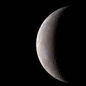 In this handout from NASA Mercury is seen from the Messenger spacecraft January 14 2008 Messenger was about 17 000 miles from the closest planet from...