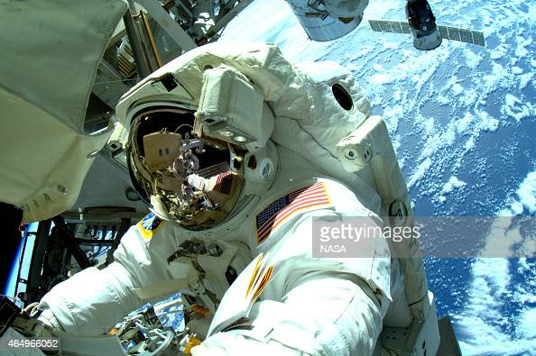 In this handout from National Aeronautics and Space Administration or NASA Expedition 42 Flight Engineer Terry Virts and Commander Barry 'Butch'...