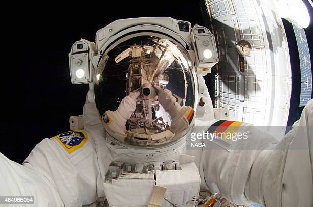 In this handout from National Aeronautics and Space Administration or NASA European Space Agency astronaut Alexander Gerst Expedition 41 flight...