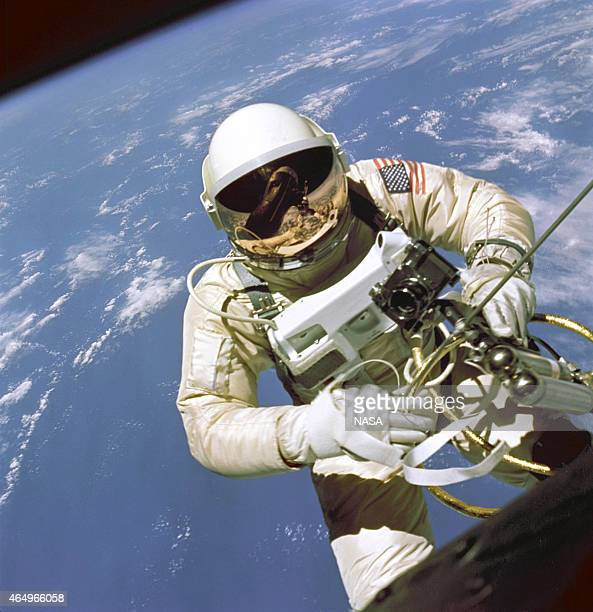 In this handout from National Aeronautics and Space Administration or NASA NASA Astronaut Ed White floats out of the hatch of his Gemini 4 capsule...