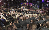 In this handout from NBC Tonight Show host Jay Leno speaks to the US military personnel from all divisions in the audience November 24 2004 in Los...