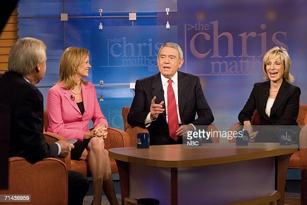 In this handout from NBC Universal Dan Rather of HDNet speaks as he joins 'The Chris Matthews Show' round table with Chris Matthews host of 'The...