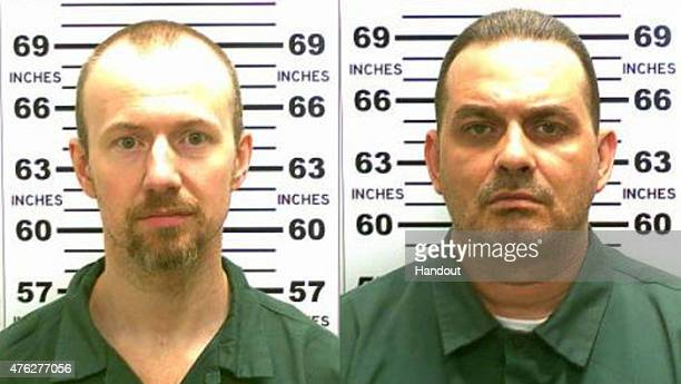 In this handout from New York State Police convicted murderers David Sweat and Richard Matt are shown i n this composite image Matt and Sweat escaped...