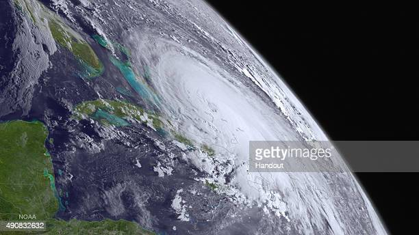 In this handout from the National Oceanic and Atmospheric Administration Hurricane Joaquin is seen churning in the Atlantic on October 1 2015 Joaquin...