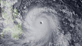 In this handout from the National Oceanic and Atmospheric Administration Super Typhoon Haiyan moves towards the Philippines November 7 2013 in the...