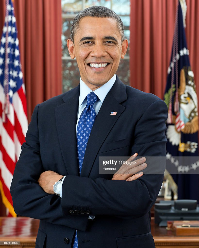 In this handout from the White House official portrait of US President Barack Obama in the Oval Office on December 6 2012 in Washington DC