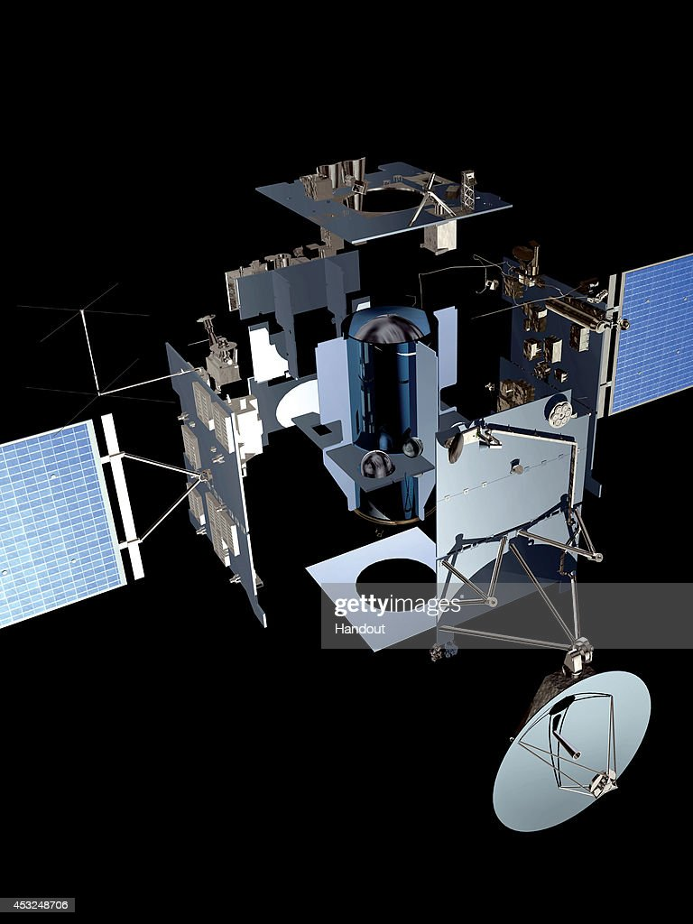 In this handout illustrartion from the European Space Agency the Rosetta spacecraft is seen ESA's Rosetta spacecraft became the first to rendezvous...