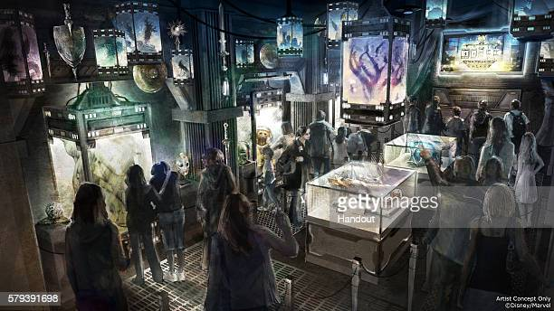 In this handout illustration provided by Disneyland Resort Guardians of the Galaxy Mission BREAKOUT Debuting in summer 2017 Guardians of the Galaxy...