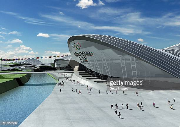 In this handout image from London 2012 Ltd the design of London's first new Olympic venue is seen revealing a stateoftheart Aquatics Centre with a...
