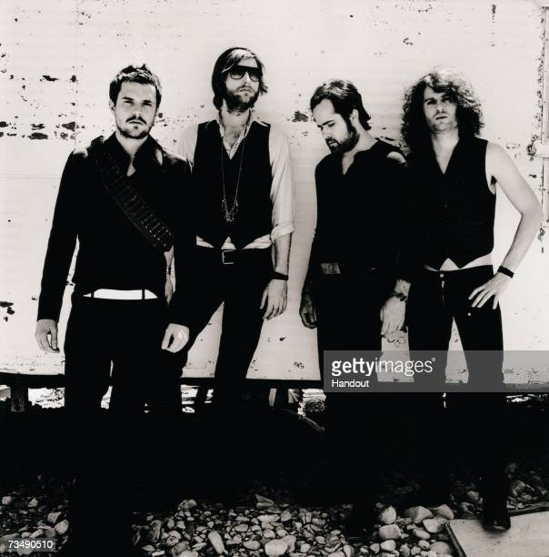 In this handout image made available on March 1 2007 by MTV members of the band The Killers poses for a portrait shoot The Killers were announced as...