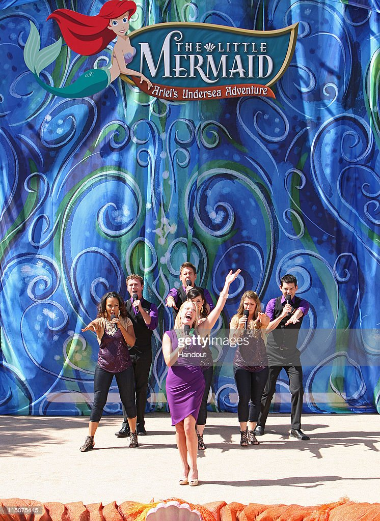In this handout image provided by Disney Parks Actress Sherie Rene Scott performs 'Poor Unfortunate Sould' during the grand opening ceremony for 'The...