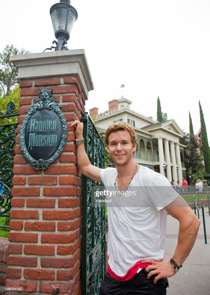 In this handout image provided by Disney Parks 'True Blood' star Ryan Kwanten poses at the Haunted Mansion at Disneyland park July 12 2012 in Anaheim...