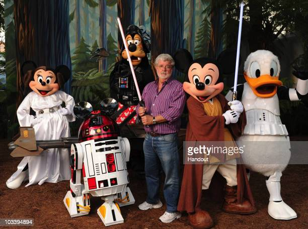 In this handout image provided by Disney with the stern and determined look of a Jedi Knight 'Star Wars' creator and filmmaker George Lucas poses...
