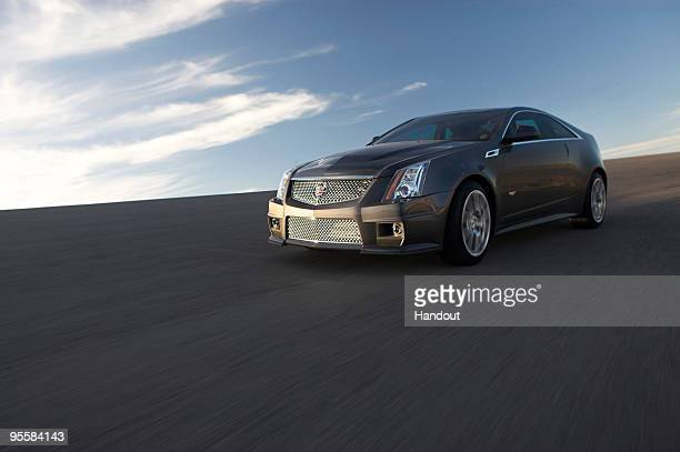 In this handout image provided by General Motors on January 5 Cadillac delivers the first look at the 2011 CTSV Coupe The CTSV Coupe will debut at...