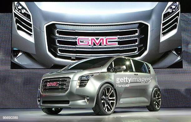 In this handout image provided by General Motors The GMC Granite concept is unveiled during the press preview for the world automotive press at the...