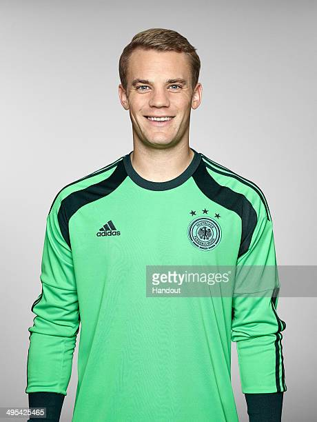 In this handout image provided by German Football Association Manuel Neuer of team Germany poses for a picture on May 24 2014 in St Martin in...