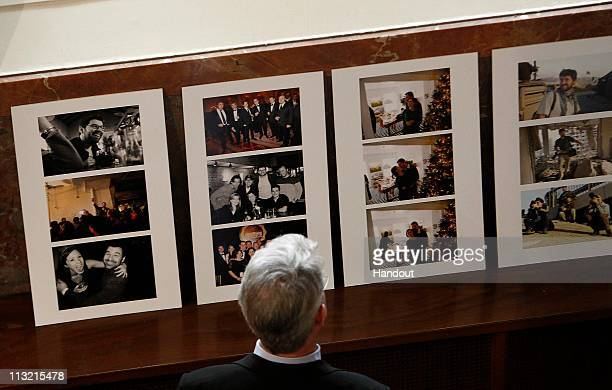 In this handout image provided by Getty Images Photographs celebrating the life of Getty Images photographer Chris Hondros are on display at his...