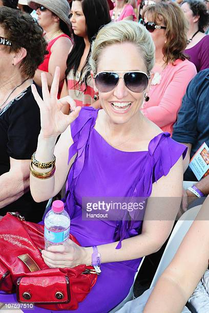In this handout image provided by Harpo Productions Inc Fifi Box attends the second taping of the 'Oprah Winfrey Show' at the Sydney Opera House on...
