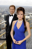 In this handout image provided by Hausmann Communications The Madame Tussauds wax figurines of Angelina Jolie and Brad Pitt stand on the SKYWALK at...
