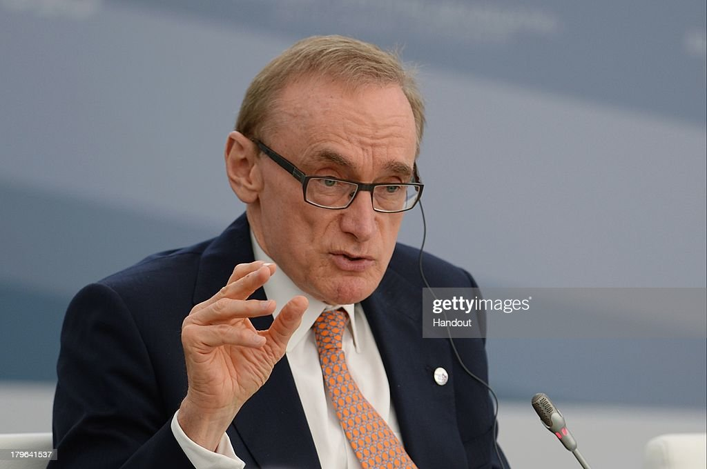 In this handout image provided by Host Photo Agency, Australian Minister for Foreign Affairs <a gi-track='captionPersonalityLinkClicked' href=/galleries/search?phrase=Bob+Carr&family=editorial&specificpeople=209391 ng-click='$event.stopPropagation()'>Bob Carr</a> attends a meeting with Business 20 and Labour 20 representatives at the G20 Summit on September 6, 2013 in St. Petersburg, Russia. Leaders of the G20 nations made progress on tightening up on multinational company tax avoidance, but remain divided over the Syrian conflict as they enter the final day of the Russian summit.