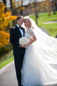 In this handout image provided by Ivanka Trump and Jared Kushner Ivanka Trump and Jared Kushner attend their wedding at Trump National Golf Club on...