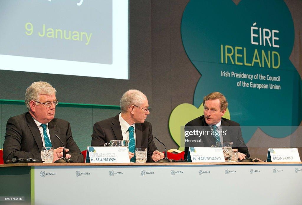 President of the European Council, Herman Van Rompuy Visits Dublin