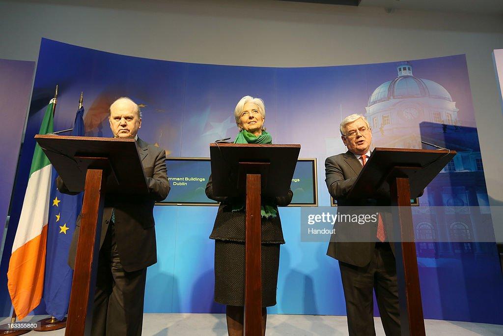 IMF Managing Director Christine Lagarde Visits Dublin