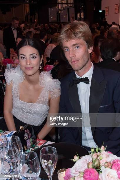 In this handout image provided by Le Palais Princier Alessandra de Osma and Prince Christian of Hanover attend the Rose Ball 2017 to Benefit the...