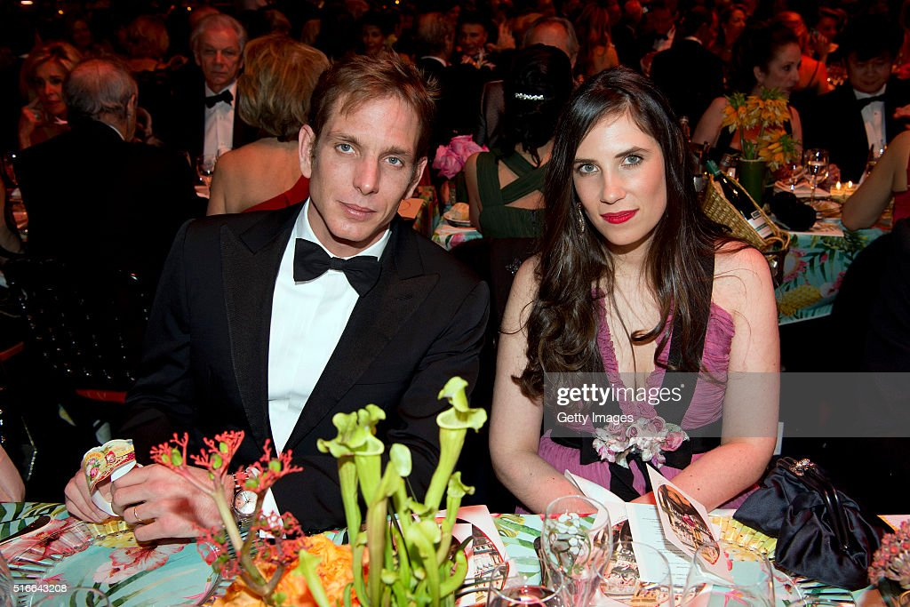 In this handout image provided by Le Palais Princier, Andrea and Tatiana Casiraghi attend The 62nd Rose Ball To Benefit The Princess Grace Foundation at Sporting Monte-Carlo on March 19, 2016 in Monte-Carlo, Monaco. at Sporting Monte-Carlo on March 19, 2016 in Monte-Carlo, Monaco.