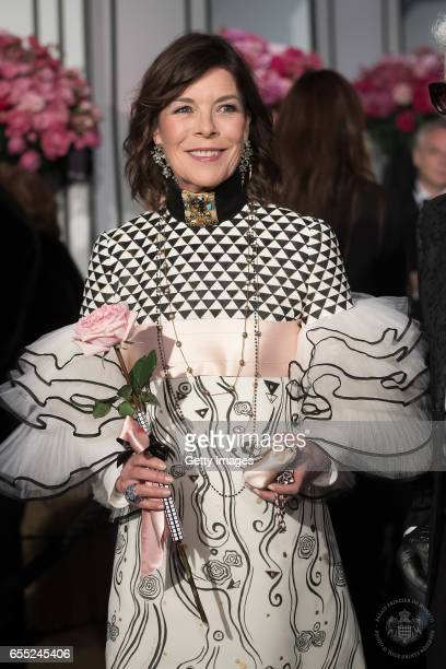 In this handout image provided by Le Palais Princier Princess Caroline of hanover attends the Rose Ball 2017 To Benefit The Princess Grace Foundation...