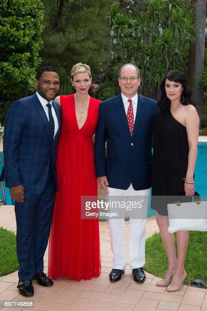 In this handout image provided by Le Palais Princier Princess Charlene of Monaco and Prince Albert II of Monaco attend the 'The Bold and The...