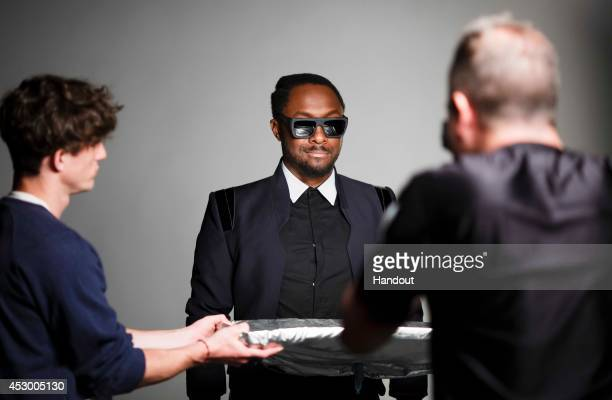 In this handout image provided by Lexus Grammy award winning musician and global innovator william is pictured behind the scenes at a photo shoot to...