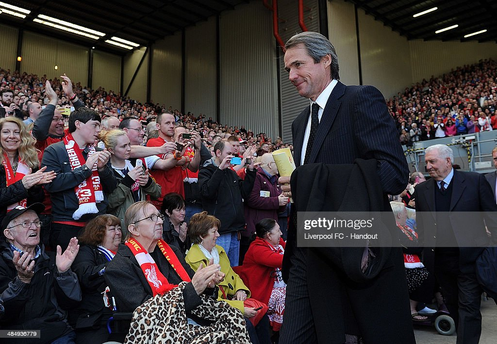In this handout image provided by Liverpool FC, former player Alan Hansen of Liverpool during the 25th Hillsborough Anniversary Memorial Service at Anfield on April 15, 2014 in Liverpool, England.