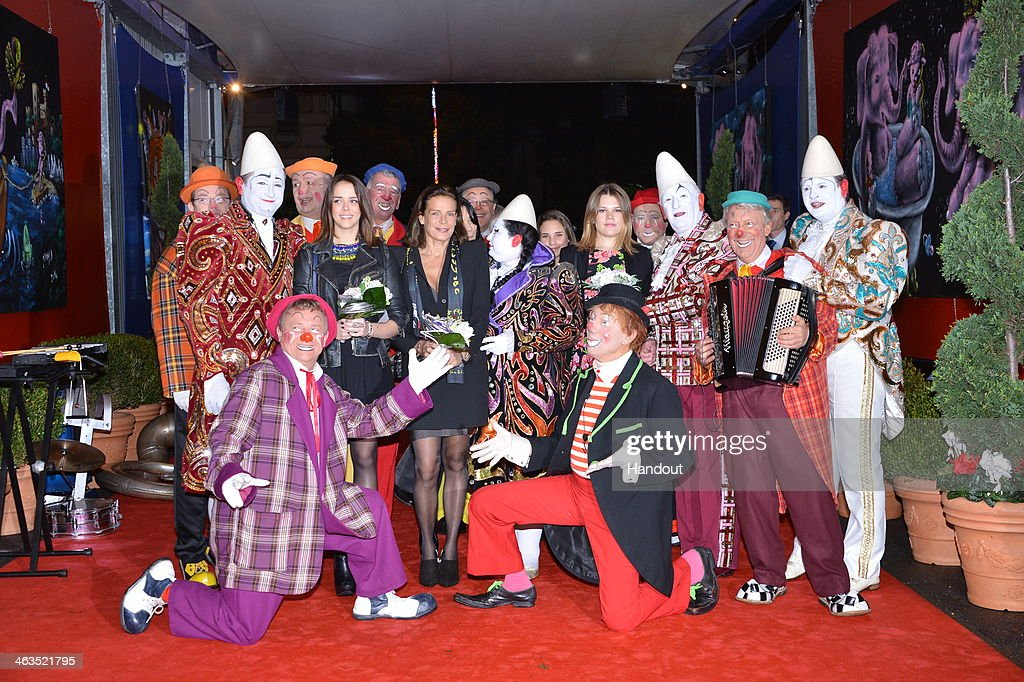 In this handout image provided by Monaco Centre de Presse, Princess Stephanie of Monaco attends the 38th International Circus Festival on January 17, 2014 in Monte-Carlo, Monaco.