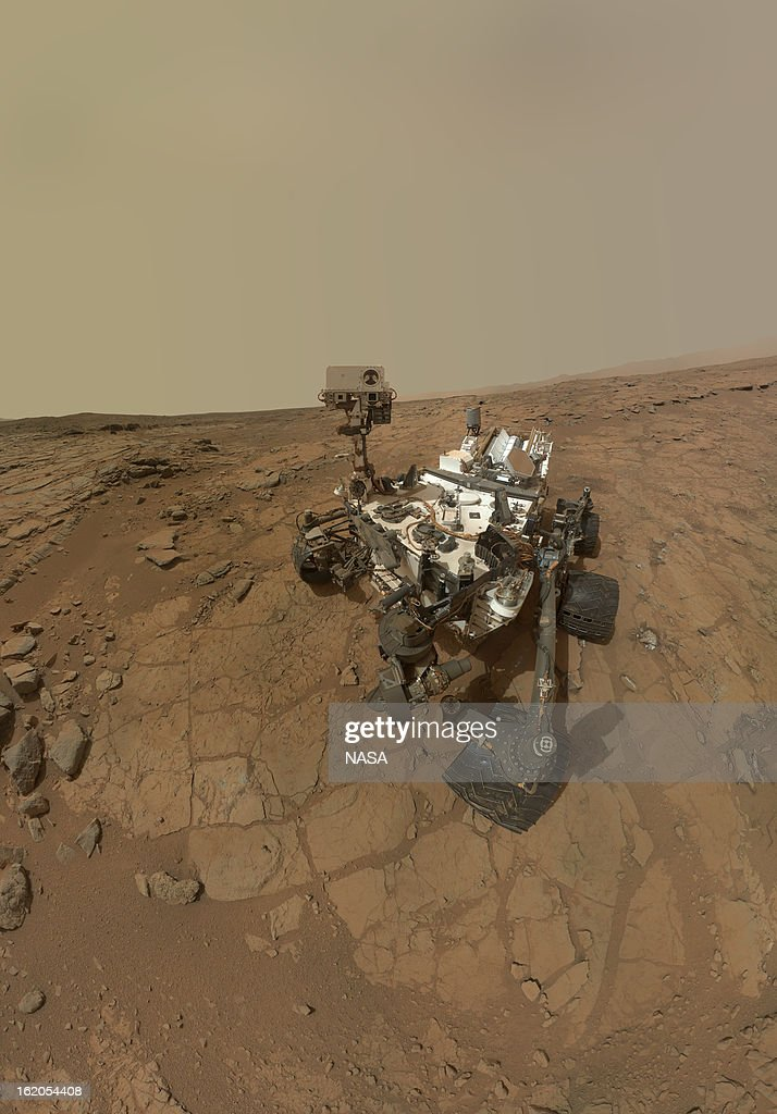 In this handout image provided by NASA, a self-portrait of the Mars rover Curiosity combines dozens of exposures taken by the rover's Mars Hand Lens Imager (MAHLI) during the 177th Martian day, or sol, of Curiosity's work on February 3, 2013 on the planet Mars. Curiosity landed on the planet on August 5, 2012.