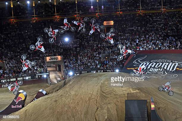 In this handout image provided by Red Bull Josh Sheehan of Australia performs during the finals of the third stage of the Red Bull XFighters World...