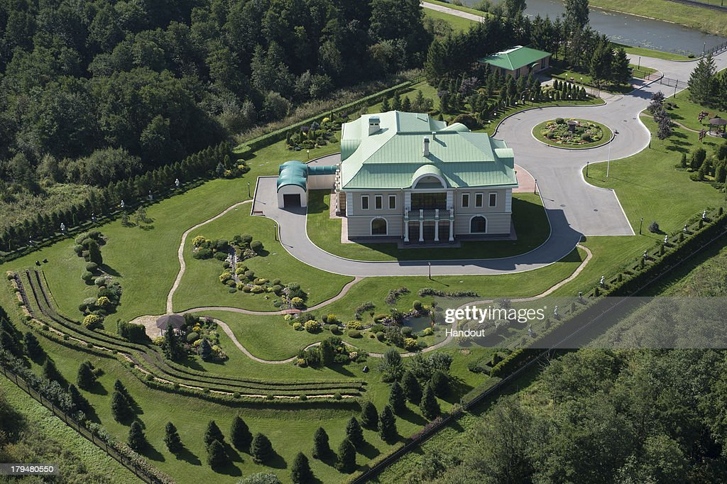 In this handout image provided by Ria Novosti, An aerial view of a manor in the park of the Palace of Congresses ahead of the G20 summit on August 29, 2013 in St. Petersburg, Russia. The G20 summit is scheduled to run between September 5th and 6th.