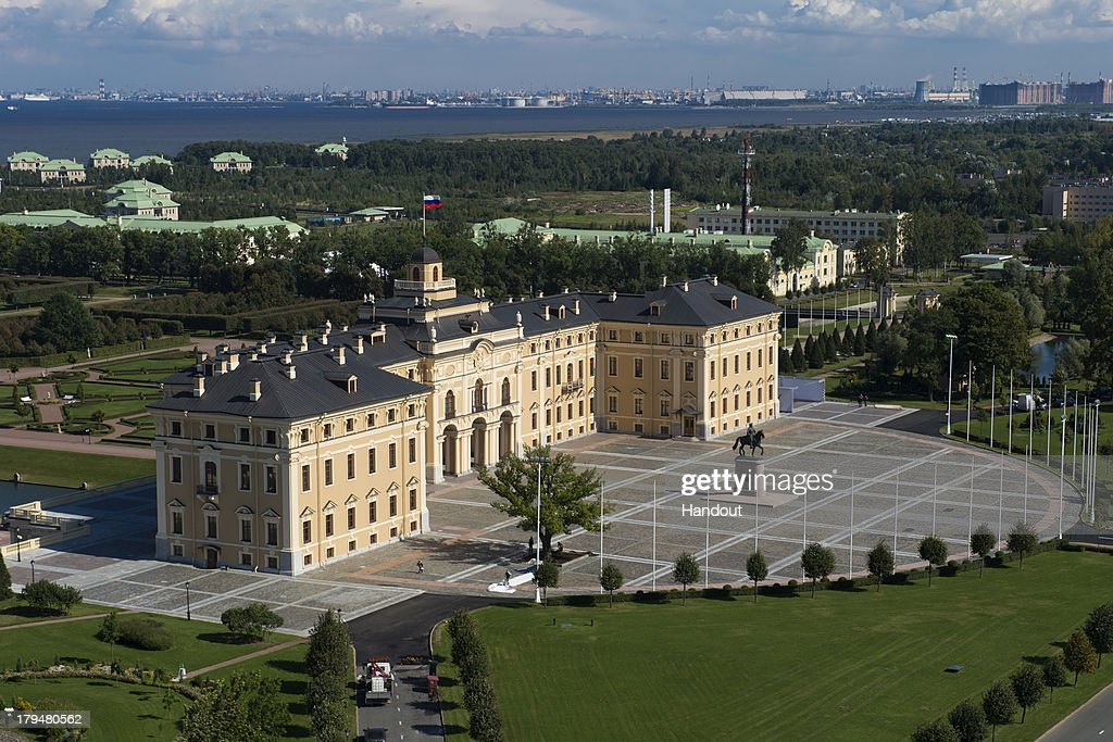 In this handout image provided by Ria Novosti, An aerial view of Constantine Palace ahead of the G20 summit on August 29, 2013 in St. Petersburg, Russia. The G20 summit is scheduled to run between September 5th and 6th.