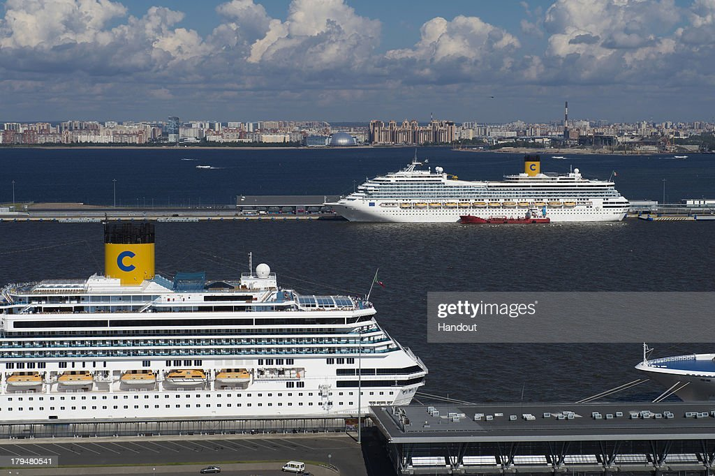 In this handout image provided by Ria Novosti, An aerial view of the Sea Port of St. Petersburg ahead of the G20 summit on August 29, 2013 in St. Petersburg, Russia. The G20 summit is scheduled to run between September 5th and 6th.