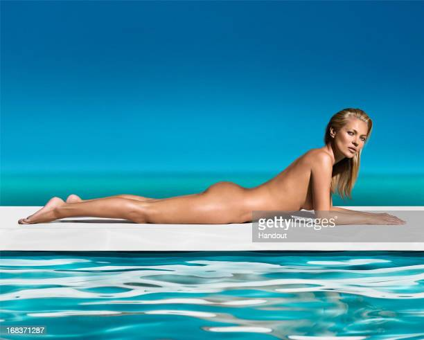 In this handout image provided by St Tropez St Tropez the iconic global selftan brand today announces the appointment of Kate Moss as the new face...