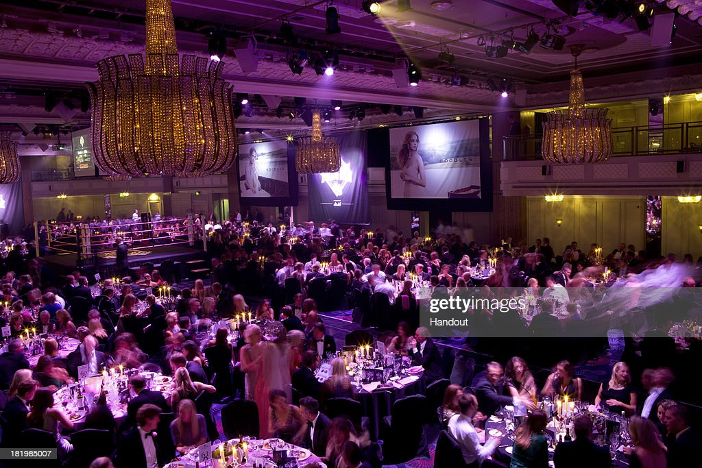 In this handout image provided by the Boodles Boxing Ball Committee, A general view of the Boodles Boxing Ball 2013 on September 21, 2013 at the Grosvenor House in London,England.