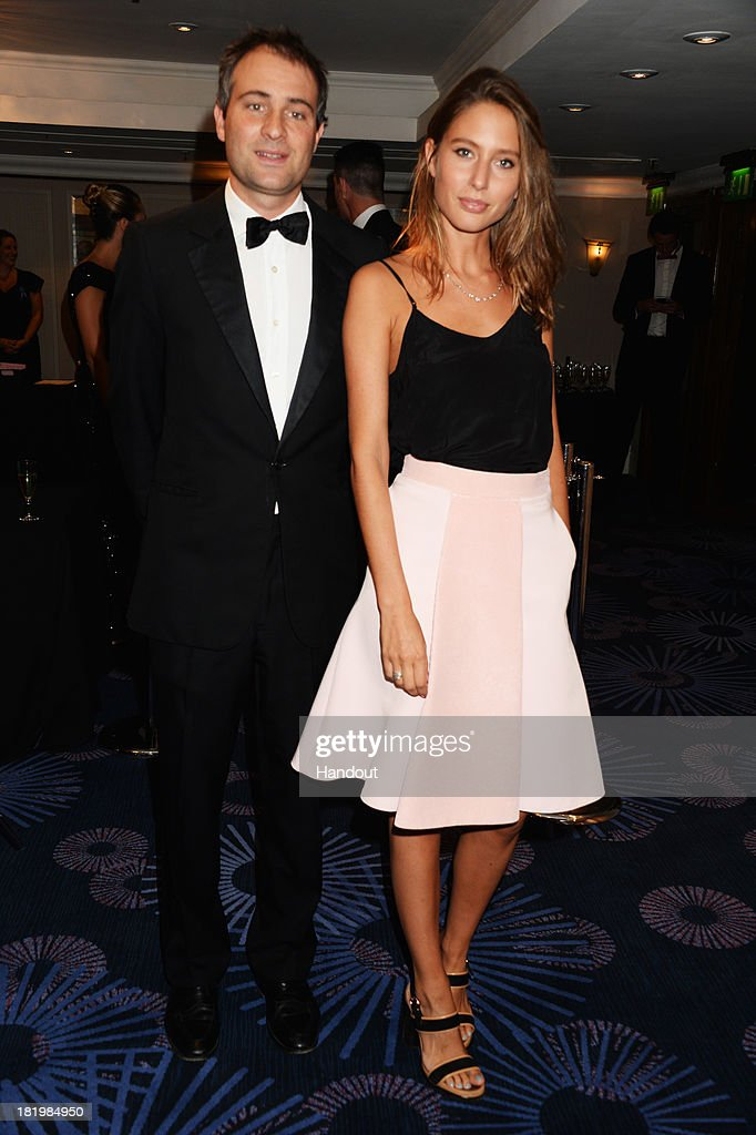 In this handout image provided by the Boodles Boxing Ball Committee, Ben Goldsmith and Jemima Jones pose at the Boodles Boxing Ball 2013 on September 21, 2013 at the Grosvenor House in London,England.