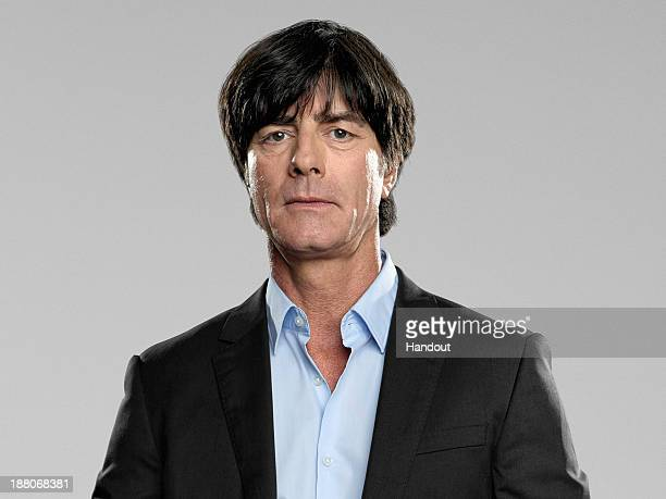 In this handout image provided by the DFB head coach Joachim Loew poses during the German National Team presentation on November 15 2013 in Germany