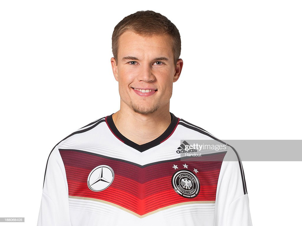 In this handout image provided by the DFB, Holger Badstuber poses during the German National Team presentation on November 15, 2013 in Germany.
