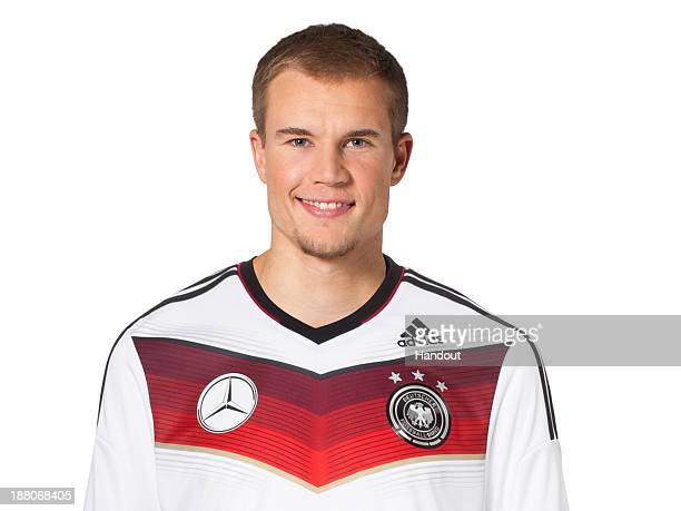 In this handout image provided by the DFB Holger Badstuber poses during the German National Team presentation on November 15 2013 in Germany