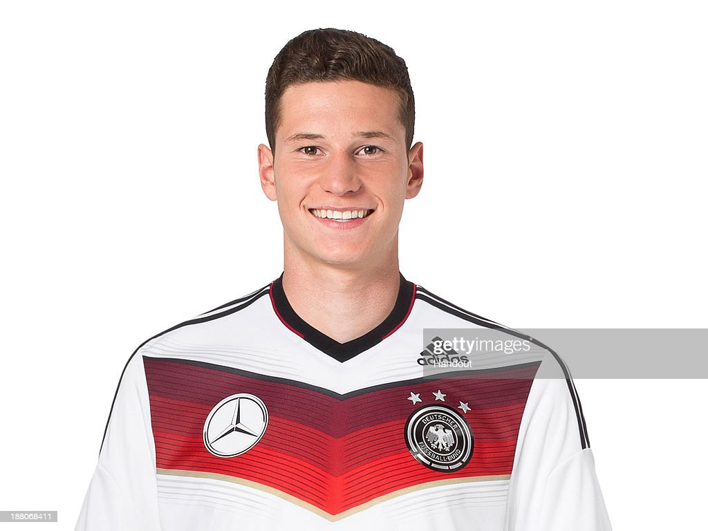 In this handout image provided by the DFB, Julian Draxler poses during the German National Team presentation on November 15, 2013 in Germany.