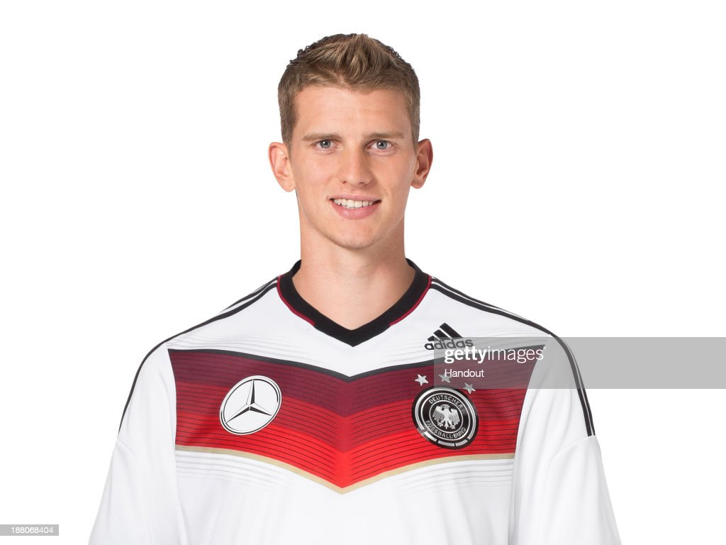 In this handout image provided by the DFB, <a gi-track='captionPersonalityLinkClicked' href=/galleries/search?phrase=Lars+Bender&family=editorial&specificpeople=644948 ng-click='$event.stopPropagation()'>Lars Bender</a> poses during the German National Team presentation on November 15, 2013 in Germany.
